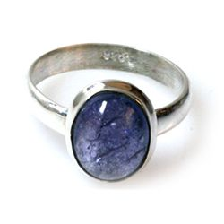 Natural Tanzanite Cabushion .925 Sterling 3.65g Ring