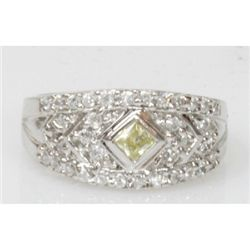 Natural 4.67g CZ Ring .925 Sterling Silver