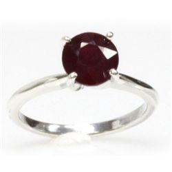 Natural 3ctw Ruby .925 Sterling Silver Ring