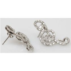 Natural 4.96g CZ Earrings .925 Sterling Silver