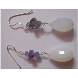 Natural 35.95 ctw Semi Precious Earring .925 Sterling