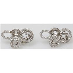 Natural 6.18g CZ Earrings .925 Sterling Silver