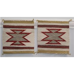 PAIR  OF NAVAJO TEXTILES