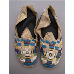 PAIR OF CHEYENNE MOCCASINS