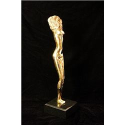 Bruno Bruni Original Limited Edition 24K Gold Layered Bronze  Sculpture