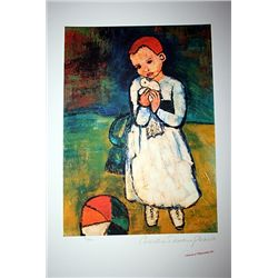 Limited Edition Picasso - Child Holding A Dove - Collection Domaine Picasso