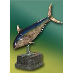 Bronze Sculpture - Tuna by J. Townsend