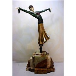 Monica - Bronze and Ivory Sculpture by Chiparus