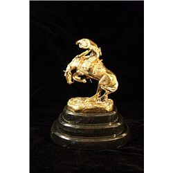 Remington Limited Edition 24K Gold Layered Bronze  Sculpture  -Rattlesnake