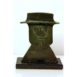 Rufino Tamayo  Original, limited Edition  Bronze -  HAT MAN