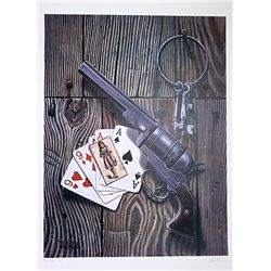 David Mann Signed and Numbered Lithograph - Jail House Game