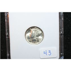 1943-D Mercury Dime; MCPCG Graded MS63