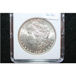 1887 Silver Morgan $1; MCPCG Graded MS62