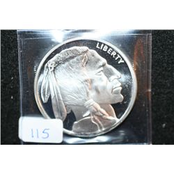 Golden State Mint  Buffalo Nickel  Silver Round; .999 Fine Silver 1 Oz.