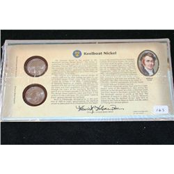 2004 Westward Journey Series-Keelboat Nickel Set; P&D Mints
