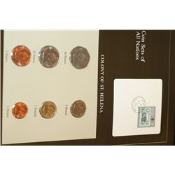 Colony of St. Helena; Coin Sets of All Nations W/Postal Stamp Dated 1986