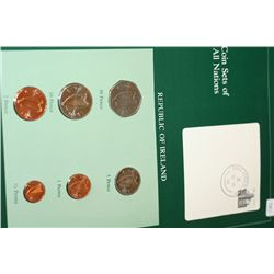 Republic of Ireland; Coin Sets of All Nations W/Postal Stamp Dated 1984