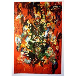 Leroy Neiman Double Signed Lithograph -Double Roulette-