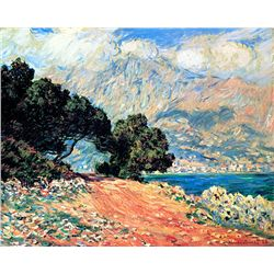 Cap Martin - Monet - Limited Edition on Canvas