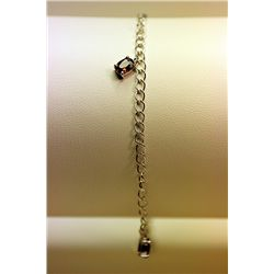 Lady's Fancy Silver Multi Stone Bracelet