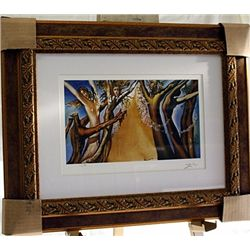 Salvador Dali Signed Limited Edition - Set Of The Ballet (Tristan)
