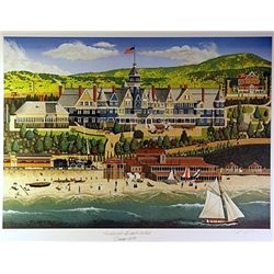 Filmore Mix Media Lithograph  Redondo Beach Hotel , Circa 1890