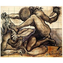 Salvador Dali Signed Limited Edition - Fighting the Minotaur