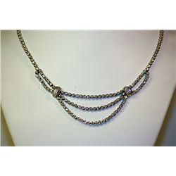 Lady's 14 kt White Gold Diamond Necklace