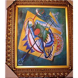 Red Oval  by Kandinsky