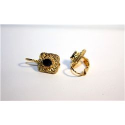 Ladies 18K Yellow Gold Sapphire EarRings