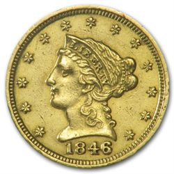 $2.5 Gold Liberty US Coin-  1890's-XF Plus