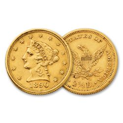 $ 2.5 Gold Liberty Head from Cache