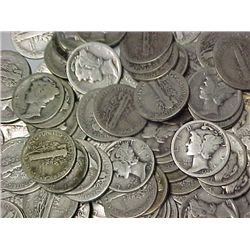 Huge Lot of 500 Mercury Dimes