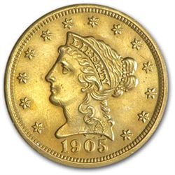 Random Date $ 2.5 Dollar Gold Liberty Head Coin
