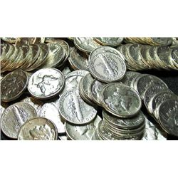 Lot of 200 Mercury Dimes- Circulated-Mixed
