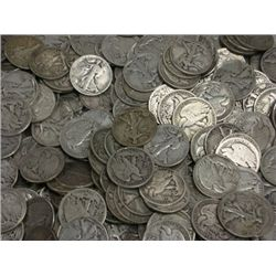 Lot of 100 Walking Liberty Halves-