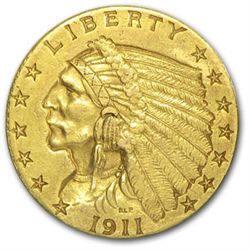 $ 2.5 Gold Indian Head US Minted Coin-