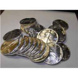 Roll of 20 Silver Eagle- UNC