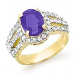 4.75ctw Tanzanite & Diamond Ring 14K