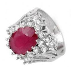 4.62 ctw Ruby & Diamond Ring 14K