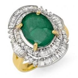 5.95 ctw Emerald & Diamond Ring 14K