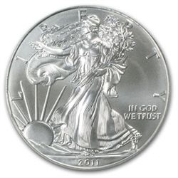 A 1 oz. Silver Eagle Bullion