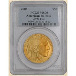 2006 $50 American Gold Buffalo MS70 PCGS
