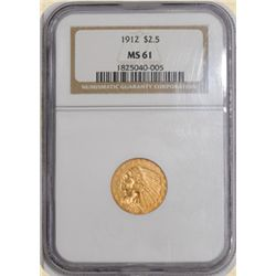 1912 $2.5 Indian MS61 NGC
