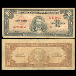 1949 Cuba 10 Peso Circulated Note (CUR-05588)