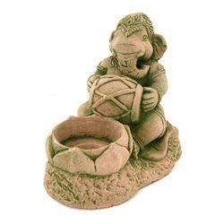 Handcrafted Cast Sandstone Ganesh Candle Holder (CLB-1037)