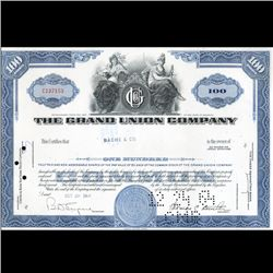 1960s Grand Union Stock Certificate Scarce (CUR-06420)