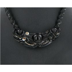 Tibet Agate Dragon &  Bead Choker Necklace (JEW-3240)