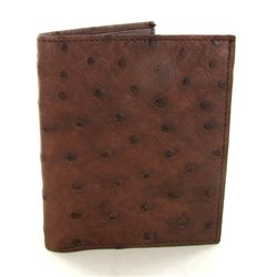 Mens Ostrich Hide Skin Wallet (ACT-301)