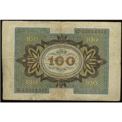 1920 Germany 100 Mark Hi Grade (COI-1338)